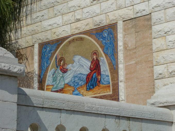 壁に描かれた受胎告知