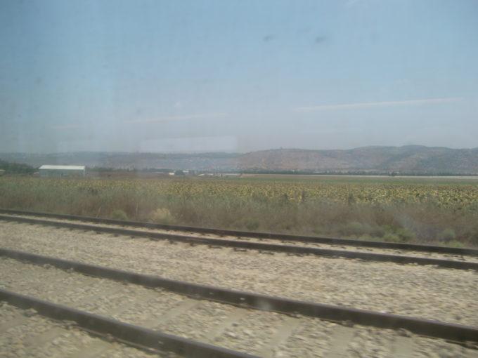 ハイファ行の電車からの車窓