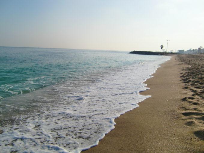 地中海の浜辺