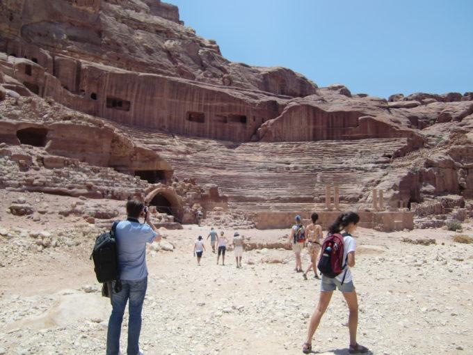 ペトラ遺跡内部の光景