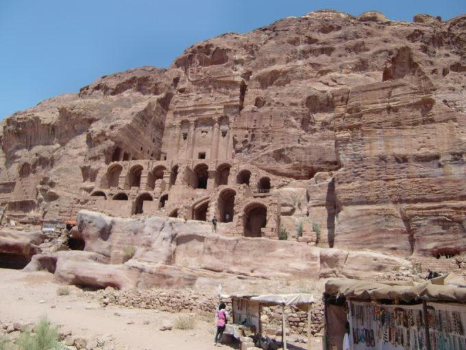 ペトラ遺跡内部の建造物