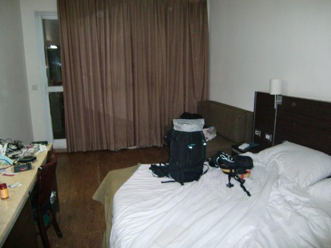 エイラットで宿泊したホテル寝室の光景