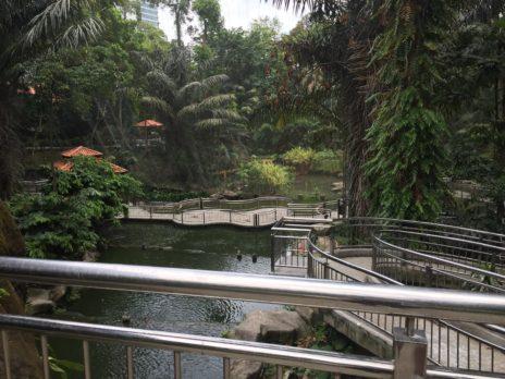 バードパークの園内の光景