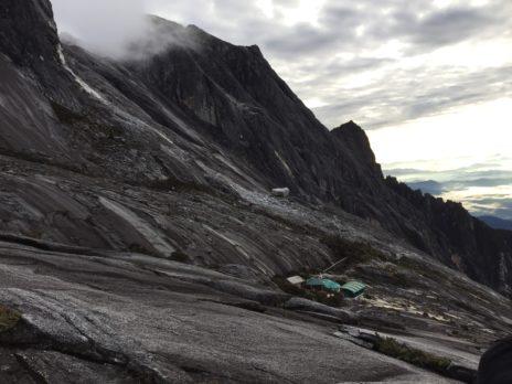 キナバル山の最後の休憩所