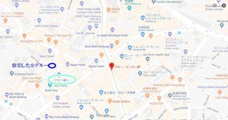 アロー通りの位置を示した地図