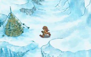 サガフロ2、美しい水墨画、氷原