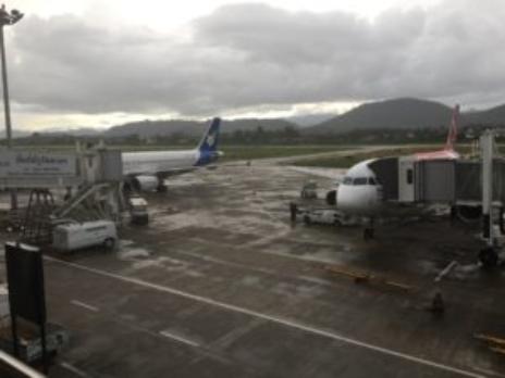 ルアンパバーンの空港