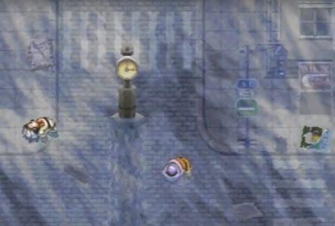 津波で溺死するモブキャラ