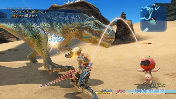 FF12恐竜相手に5桁ダメージを与えるヴァン