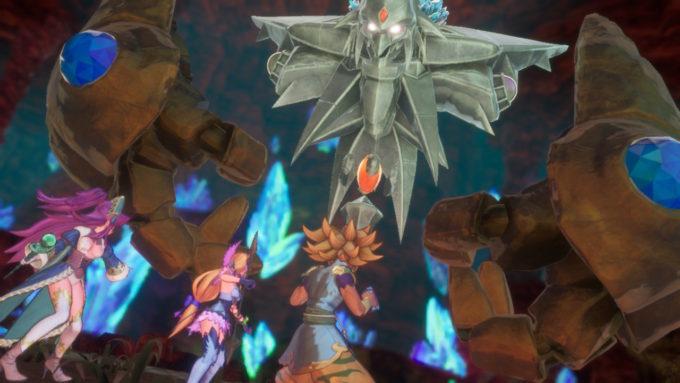 主人公の前に姿を現す聖剣伝説3リメイク土の神獣ランドアンバー