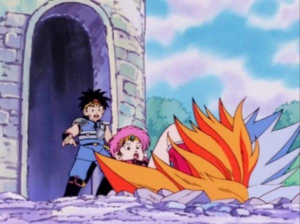 ダイの大冒険アニメ、マァムの足を正面から掴むフレイザード