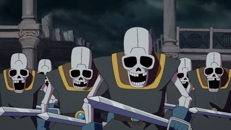 パプニカ王国を侵略する骸骨兵