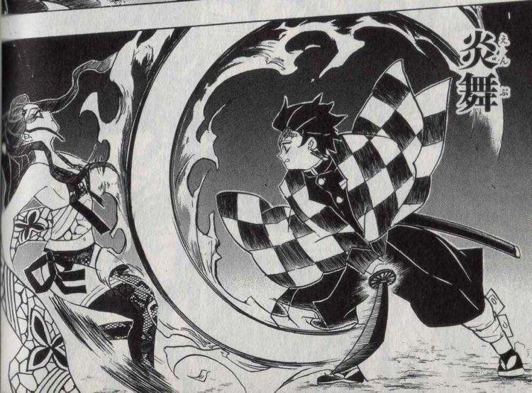 堕姫相手にヒノカミ神楽を使用する炭治郎