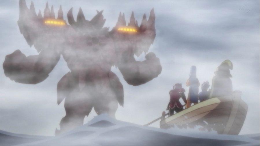 巨大な鬼岩城とニセ勇者一同
