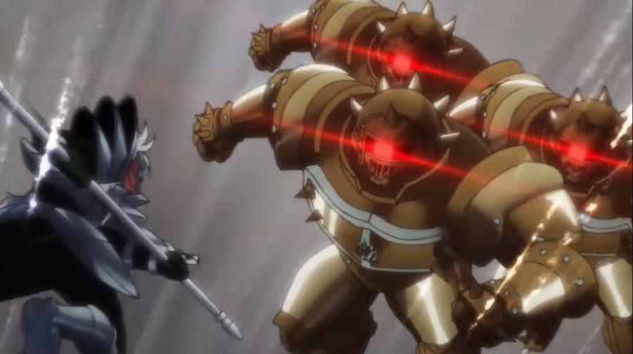 デッドアーマー3体を難なく撃破するヒュンケル