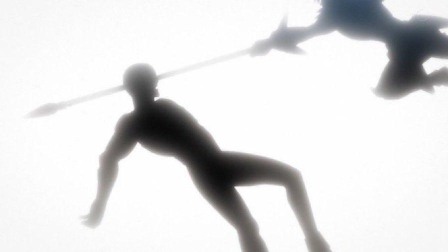 ヒムの頭を突き刺すヒュンケル