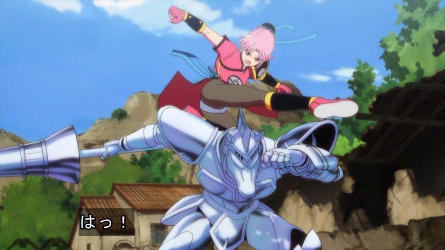 シグマと戦う黒タイツのマァム